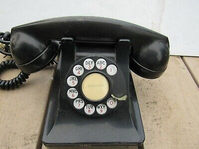 Vintage Black Telephone, With a Rotary Dial, By Western Electric F1W