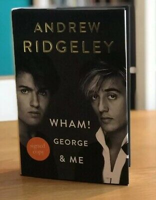 Andrew Ridgeley My Life With George Michael Signed First Edition Book New wham
