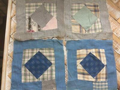 ~Back In Time Textiles~Antique 1900-1910 orphan quilt blocks shirting calico