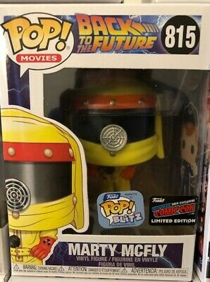 2019 NYCC FUNKO POP BACK TO THE FUTURE MARTY MCFLY #815.Toy Bobble Figure.