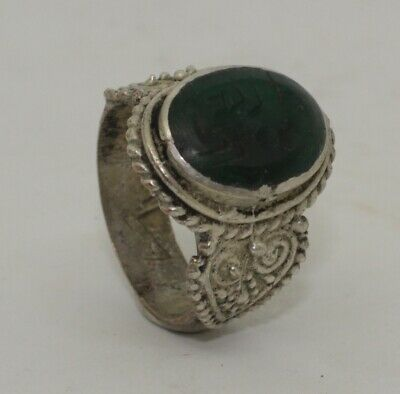 Quality Post Medieval Silver  Intaglio Ring    0966