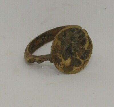 Quality Ancient Roman Greek Bronze Seal Ring  - Circa 100Ad  - 012