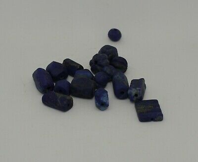 Good Quantity Of Ancient Carved Lapis  Beads -  02212