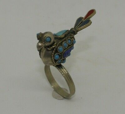 Post Medieval Silver Gilt Bird Ring - 051
