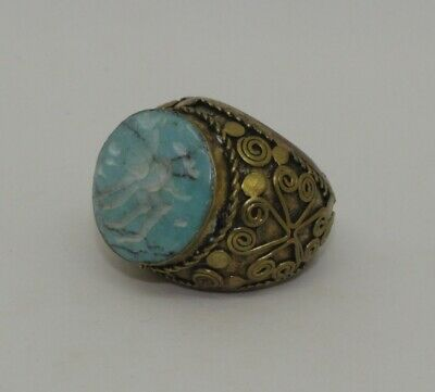 Large Post Medieval Silver Gilt Ring - 031