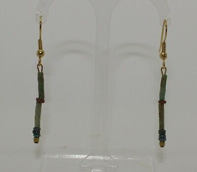 Ancient Egyptian Bead Earrings - 021