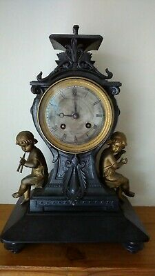 Antique Mantel Clock by Lainé of Paris with Silk Escapement