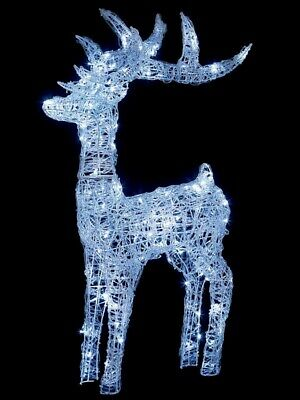 Premier Christmas 160 LED Indoor Outdoor Acrylic Reindeer 1.15m - COOL WHITE