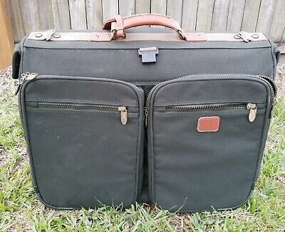 "Dakota by Tumi Dark Green 23"" Wheeled Rolling Garment Bag Luggage Suitcase"