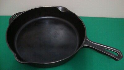 """Hammered Cast Iron Skillet Pan Frying # 2008 No. 8 GRISWOLD 10"""" Erie PA"""