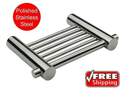 STAINLESS STEEL SOAP DISH POLISHED for SHOWERS CHROME look NEW