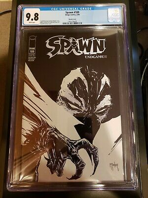 Spawn #189 B&W Sketch Variant Todd McFarlane Cover Limited To 100 CGC 9.8