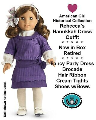 American Girl_Rebecca's HANUKKAH DRESS_Historical Outfit_NEW_MIB