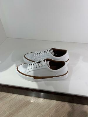 MASSIMO DUTTI (ZARA GROUP) WHITE PLIMSOLLS WITH LEATHER DETAILS Ref. 6410/021