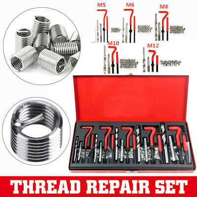 131Pc Imperial Thread Repair Set SAE Helicoil Kit HSS Drill Tap Insert W/T lg