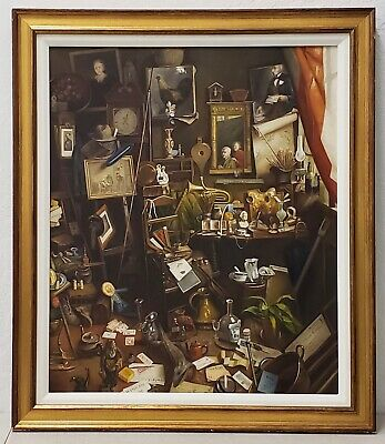 Outstanding 20th Century Still Life Interior in the School of Charles Spencelayh