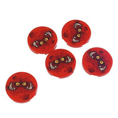 Lego Lot of 10 New Tan Tiles Round 2 x 2 with Bottom Stud Holder with Elves Fire