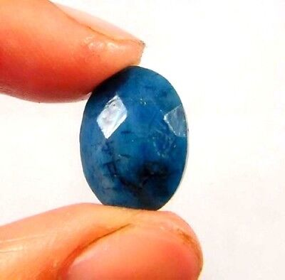 Dyed Faceted Blue Sapphire Gemstone 5 ct 13x9mm W462