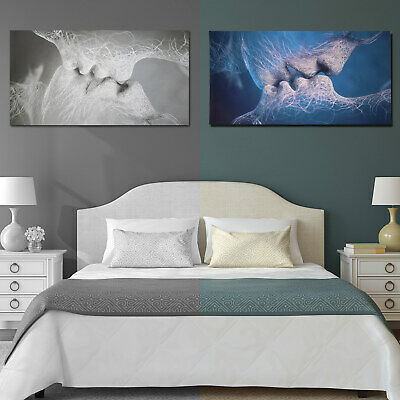 60*100cm Love Kiss Abstract Art Home Canvas Painting Wall Art Picture Decoration