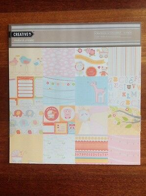 "LULLABY ""GIRL"" SCRAPBOOKING PACK, 16 piece, Creative Pl"