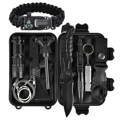 Outdoor Sports Tactical Hiking Camping Kit SOS Emergency Survival Equipment