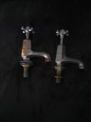 Art deco Vintage Brass Bath Taps