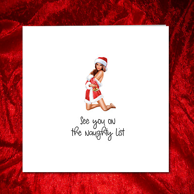 Sexy Christmas Card, Naughty Rude Adult Funny Humorous - Boyfriend Husband Fun
