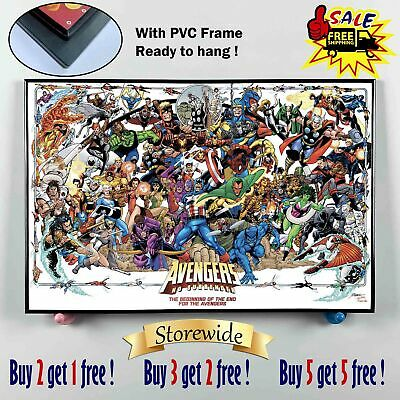 """12""""x18""""Super hero PVC HD Canvas prints Painting Home Decor Picture Room Wall art"""