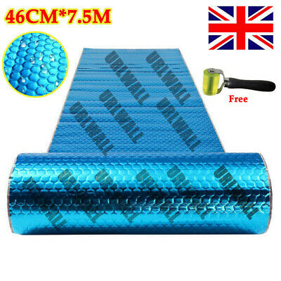 Auto 2mm 7.5M Blue Aluminum Car Van Sound Deadening Proofing Damping Mat 16kg UK