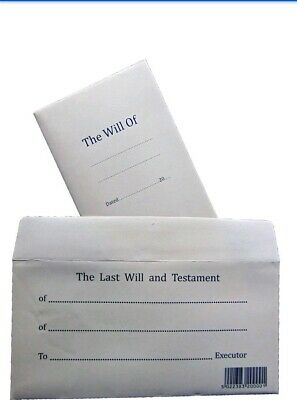 Last Will Form And Testament & Secure Envelope Kit Instructions & Example
