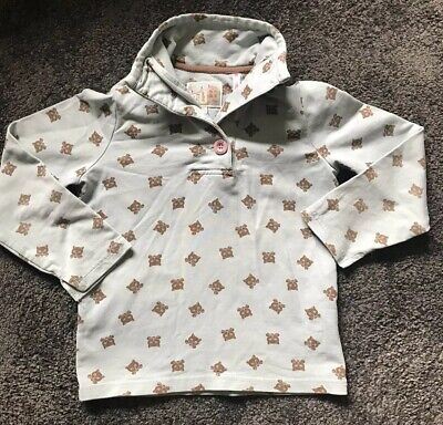 JOULES jnr cowdray funnel neck cat print sweatshirt age 5