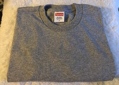 Supreme American Apparel Mens T Shirt Made In USA LS Blank Tag Cut Size Large