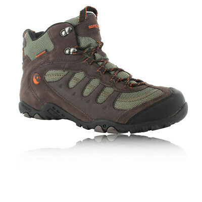 Hi-Tec Mens Penrith Brown Mid Waterproof Trail Hiking Walking Boots Shoes New