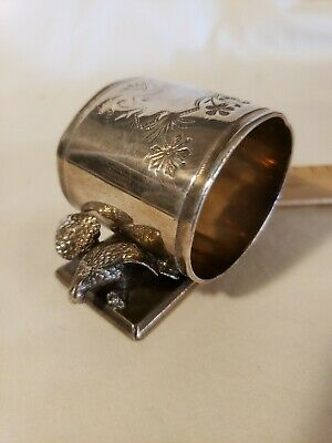 Antique Victorian Silverplate DOUBLE EAGLE Figural Napkin Ring, Middletown Plate