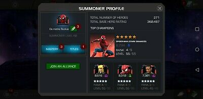 Marvel Contest Of Champions Account 360k Rating