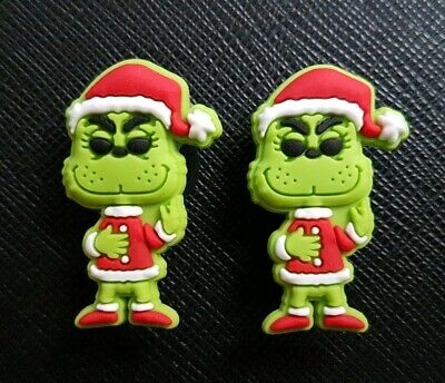 2 x The Grinch Shoe Charms Made For Croc shoes Crocs Jibbitz Charm