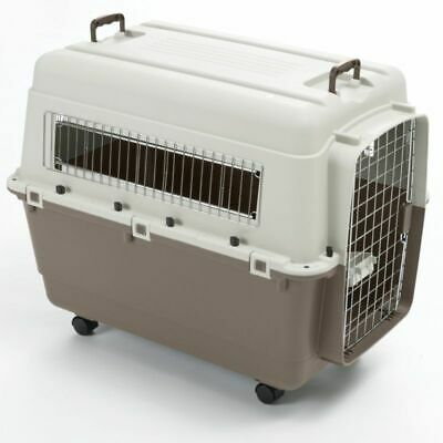 Solid Plastic Transport Crate Box for Dogs Cats Rabbits - 3 Sizes