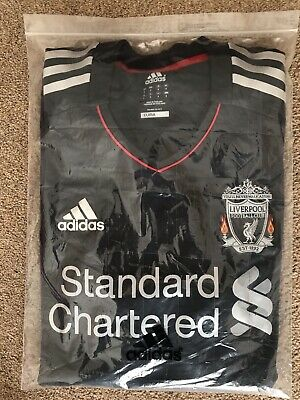 Rare Liverpool FC 2011 – 2012 Away Adidas Techfit Player Issue Shirt SIZE 8