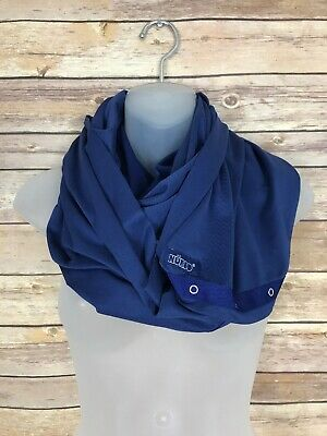Nuroo Nursing Scarf One Size Snaps Stretch Knit Solid Navy Blue Convertible
