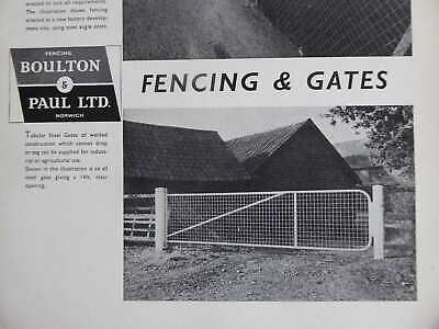 1954 Boulton & Paul Fencing Gates Chain Link Fences Stylish Illustrated Advert