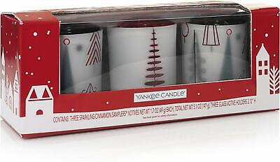 Yankee Candle Company 1552457 Holiday Trees Gift Set, Silver NEW Cinnamon