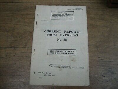 WW2 Reports from Overseas, Arakan, Indian Division, British Army