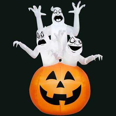 Inflatable 3 Ghosts in Pumpkin Scene 6 Ft High