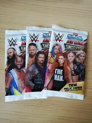 WWE Slam Attax Universe Trading Cards Lot Of 3 Sealed Packs