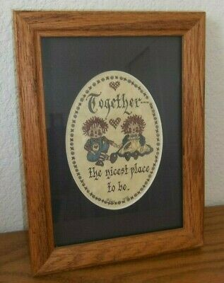 Raggedy Ann & Andy Picture - Wood Frame 6 x 8