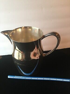 """Silver Plated Water Pitcher 9"""""""