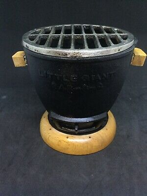 Vintage Japanese Little Giant Cast Iron Mini Table Top Personal Hibachi Grill