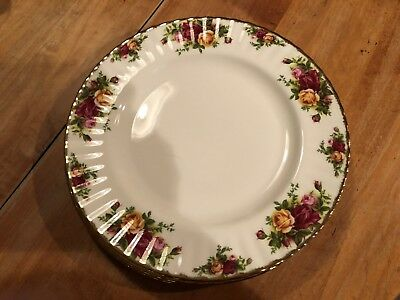 6 Royal Albert Old Country Roses Dinner Plates England