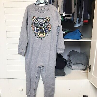 Kenzo Age 4 Years Boys Girls Unisex Grey All In One Romper Tracksuit