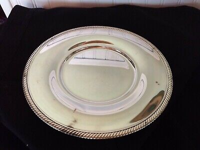 Silver plated lunch plate, Castleton International Silver Company 673